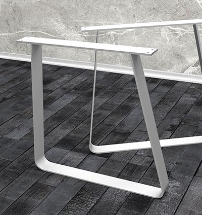 Trapez Tischbeine aus Metall